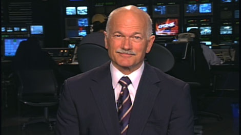 NDP Leader Jack Layton speaks with CTV News Channel, on Saturday, Sept. 12, 2009.