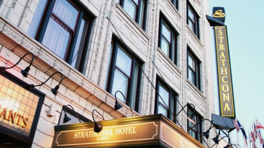 Victoria's Strathcona Hotel complex closed due to 'construction issues'
