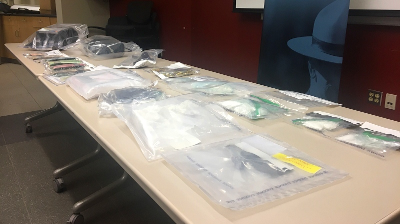 Police seized more than a kilo of cocaine as well as fentanyl and meth in Red Deer, resulting in six arrests. Dec. 12, 2019. (CTV News Edmonton)