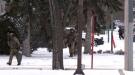 RCMP are seen in Kindersley on Dec. 12, 2019. (Laura Woodward/CTV Saskatoon)