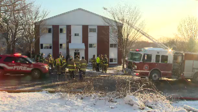 A 35-year-old man has been arrested after a fire broke out at an apartment building on Spencer Avenue in Spryfield, N.S.