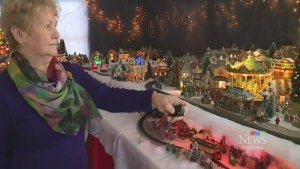 Local woman shows off holiday display