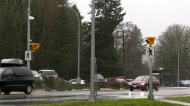 Teen struck on road in front of Sooke school