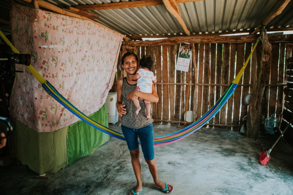 The families are living in makeshift homes, many of which they built themselves. (Joe Gonzalez/New Story Charity)