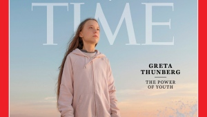 "This photo provided by Time magazine shows Greta Thunberg, who has been named Time's youngest ""person of the year"" on Wednesday, Dec. 11, 2019. (Time via AP)"