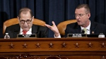 House Judiciary Committee Chairman Rep. Jerrold Nadler, D-N.Y., left, and ranking member Rep. Doug Collins, R-Ga., right, both speaking during a House Judiciary Committee markup of the articles of impeachment against President Donald Trump, on Capitol Hill Thursday, Dec. 12, 2019, in Washington. (Andrew Harrer/Pool via AP)