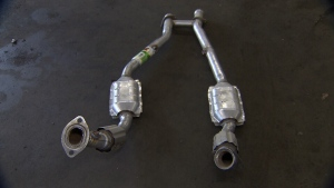 A catalytic converter removed from a vehicle. (CTV News Edmonton)
