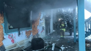 Crews were called to a house fire on Dec. 13, 2019. (Matt Marshall/CTV News Edmonton)