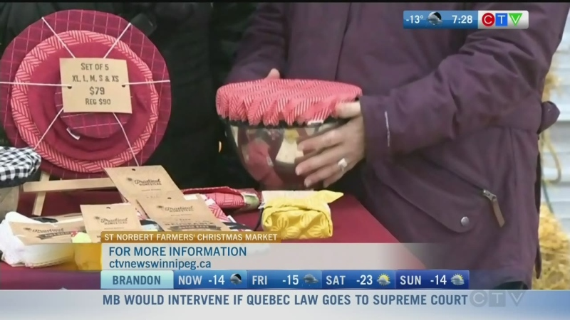 Marria Buchan makes all kinds of covers and wraps to protect your food in the fridge. Rachel Lagacé reports.