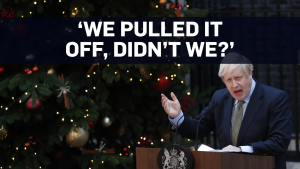 Boris Johnson says U.K. leaving EU in January