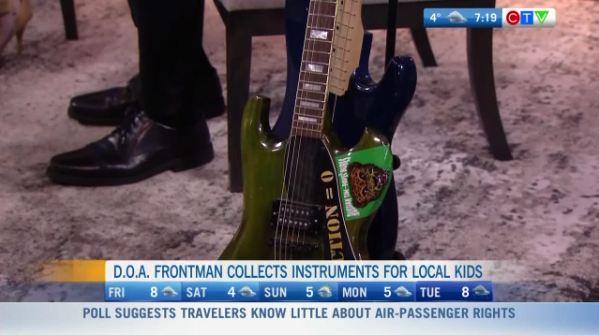 Donating music instruments to local kids
