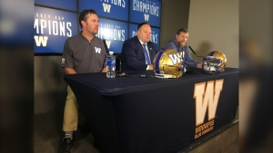 Kyle Walters, Wade Miller and Mike O'Shea. (Source: Glenn Pismenny/CTV News Winnipeg)