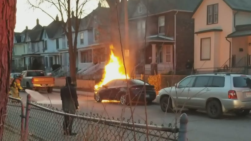Windsor car fire