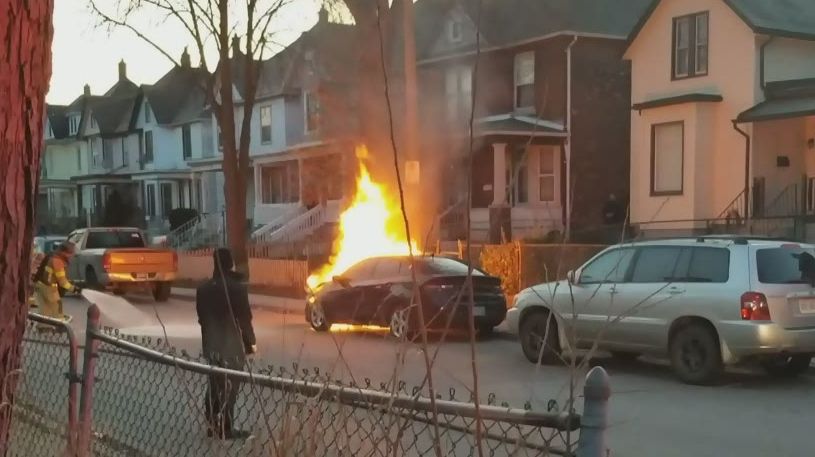 Windsor car fire