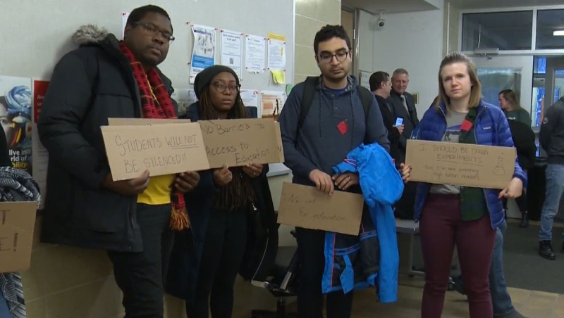 Graduate students protest proposed tuition hikes