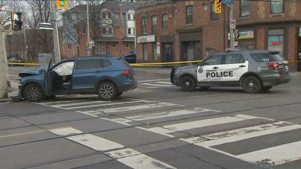 The SIU is investigating after a collision involving police in Regent Park Friday morning left a man with a shoulder injury. (CTV News Toronto)