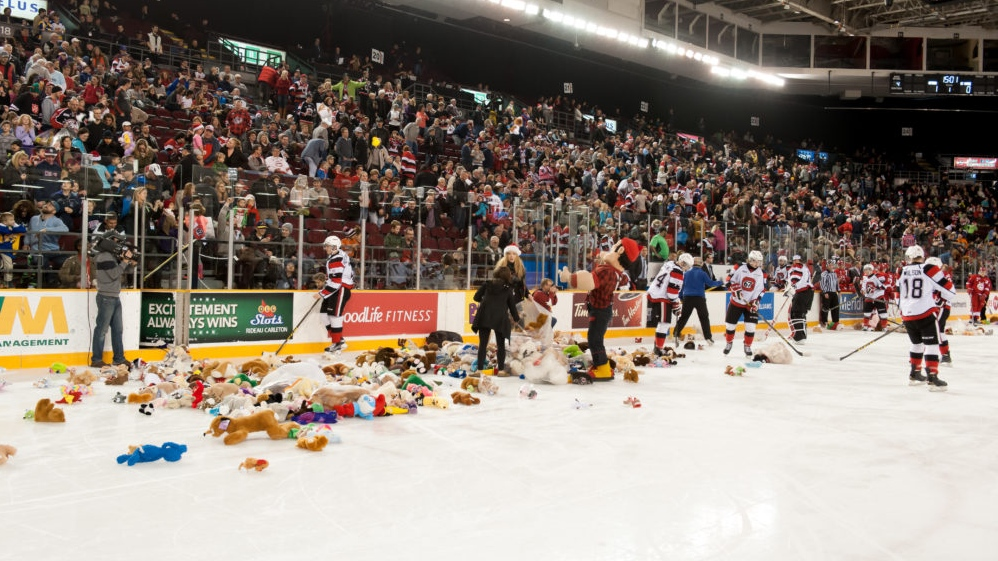 Sunday's 67's game cancelled, teddy bear toss rescheduled
