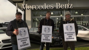 Unionized workers say they are looking for wage parity with other dealerships on the island: Dec. 13, 2019 (CTV News)