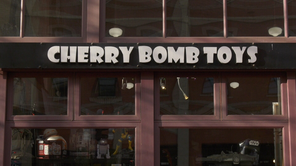 Cherry Bomb Toys owner B. Woodward says that thieves broke into the store at roughly 6:15 a.m. Friday morning:  (CTV News)