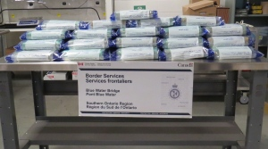 Border agents confiscate 50 bricks of cocaine at the Blue Water Bridge in Sarnia (Courtesy:RCMP & Canada Border Services)