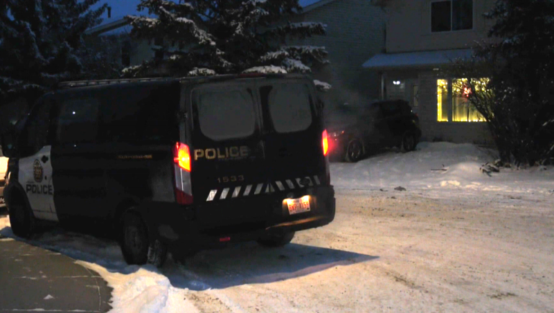 Calgary police have one person in custody for questioning.