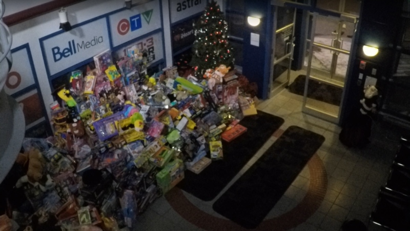 Edmontonians dropped off more than 2,000 toys during 2019's 'Stuff the Studio' for Toy Mountain event on December 13.