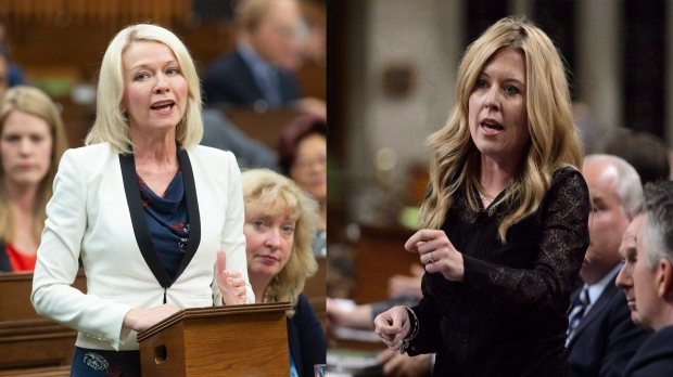 Conservative MP Candice Bergen, left,  and MP Michelle Rempel Garner can be seen in this composite image. (Sean Kilpatrick/ Adrian Wyld/ The Canadian Press)