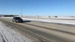 North perimeter highway in Winnipeg, Man. (Source: Mike Arsenault/CTV News Winnipeg)