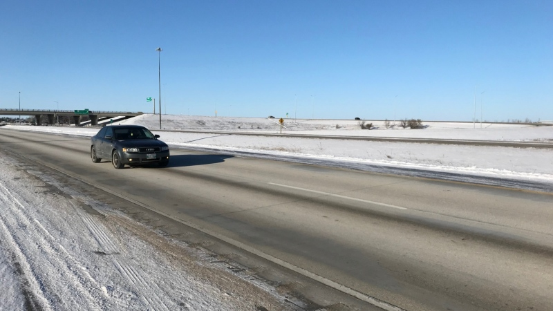 North perimeter highway in Winnipeg, Man. (Source: Mike Arsenault/CTV News Winnipeg)