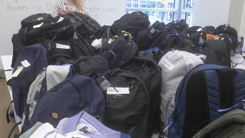Filling backpacks for vulnerable youth