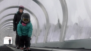 Ski Montcalm is always keen to keep up with technology including this covered ski ramp for children.