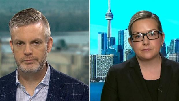 Former Stephen Harper communications director Kory Teneycke and Conservative MP Jenni Bryne