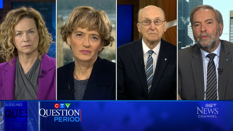 Tom Mulcair, Craig Oliver, Joyce Napier, and Tonda MacCharles weigh in on Andrew Scheer resigning as leader of the Conservative party.