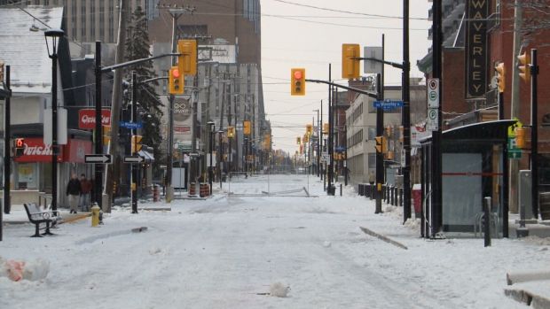 A view of an empty Elgin Street on Sunday, Dec. 15, a day before it's scheduled to reopen.