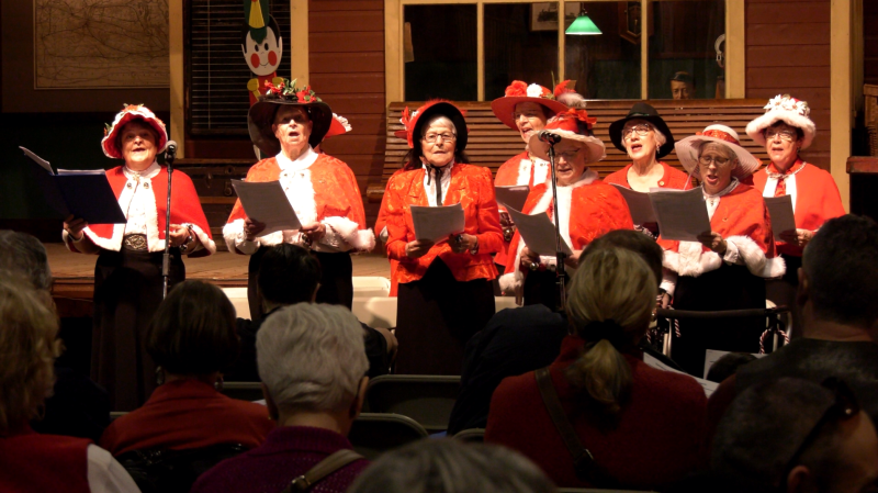 The Boomtown Singers performing at the Western Development Museum in Saskatoon. (Chad Leroux/Saskatoon)