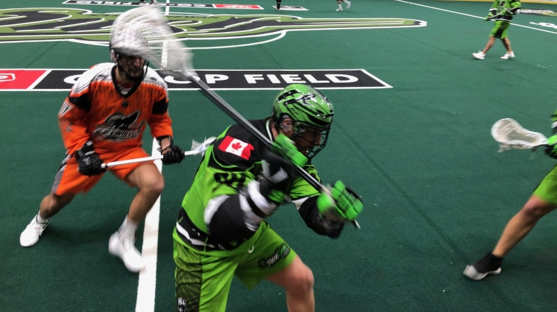 The Rush lost their 2019 home opener 12-8 to the New England Black Wolves. (Alessandra Carneiro/CTV News)