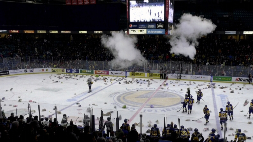 Blades beat Raiders at Sasktel Centre