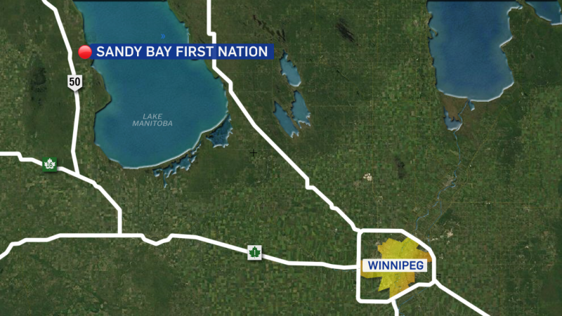 Sandy Bay First Nation is located west of Lake Manitoba.