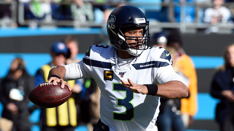Seattle Seahawks quarterback Russell Wilson (3) passes during the first half of an NFL football game against the Carolina Panthers in Charlotte, N.C., Sunday, Dec. 15, 2019. (AP / Mike McCarn)