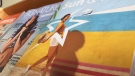 Travel brochures are seen on a shelf at a travel agency in London, Ont. on Monday, Dec. 16, 2019. (Marek Sutherland / CTV London)