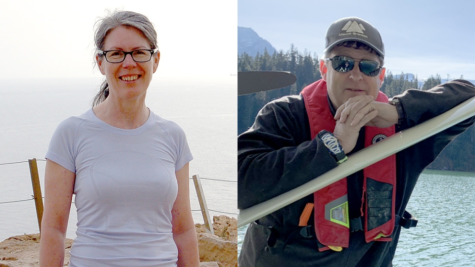 Katheryn and Allan Boudreau, both 53, were identified by their children as victims of the Gabriola Island plane crash. (Boudreau family)