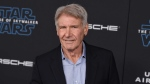 """Harrison Ford arrives at the world premiere of """"Star Wars: The Rise of Skywalker"""" on Monday, Dec. 16, 2019, in Los Angeles (Jordan Strauss/Invision/AP)"""
