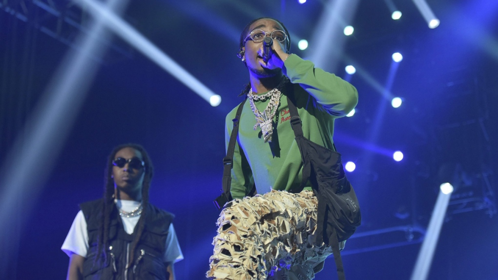 'Migos' perform during the 2019 BET Experience