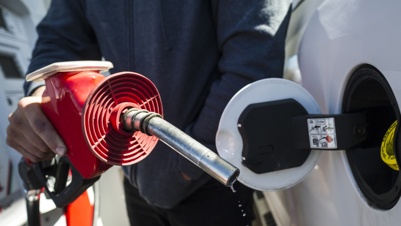 A man fills up his truck with gas in Toronto, on April 1, 2019. THE CANADIAN PRESS/Christopher Katsarov