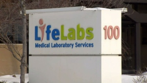 The exterior of a LifeLabs building is seen in this file photo.