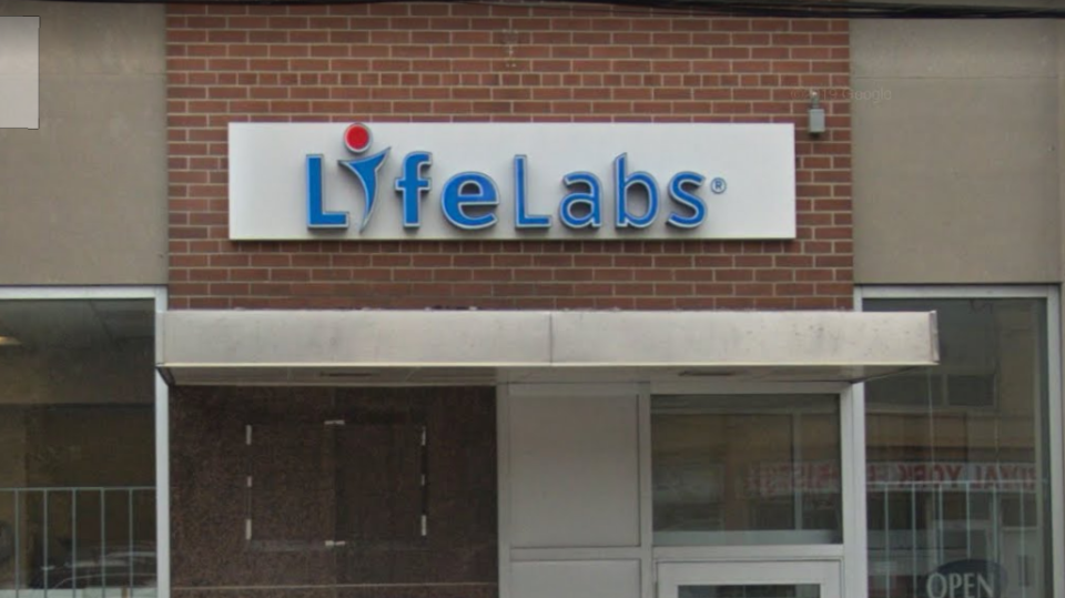 A LifeLabs location can be seen on Weston Road in Toronto, Ont. in this Google maps image.