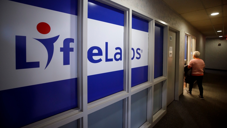 LifeLabs signage is seen outside of one of the lab's Toronto locations, Tuesday, Dec. 17, 2019. (THE CANADIAN PRESS/Cole Burston)