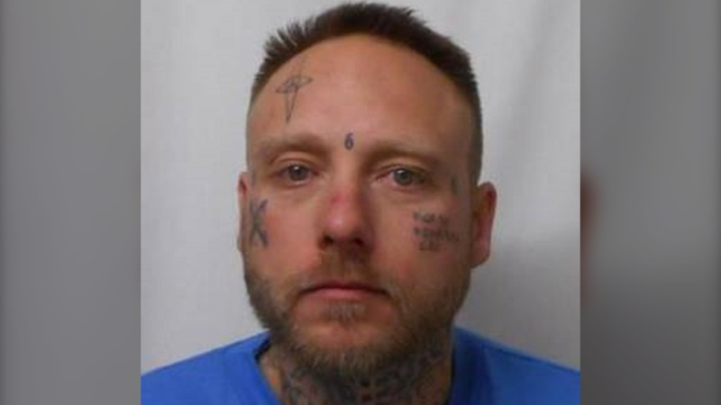 Noah Hodge, 35, is wanted on a Canada-wide warrant and is believed to be on Vancouver Island: (West Shore RCMP)