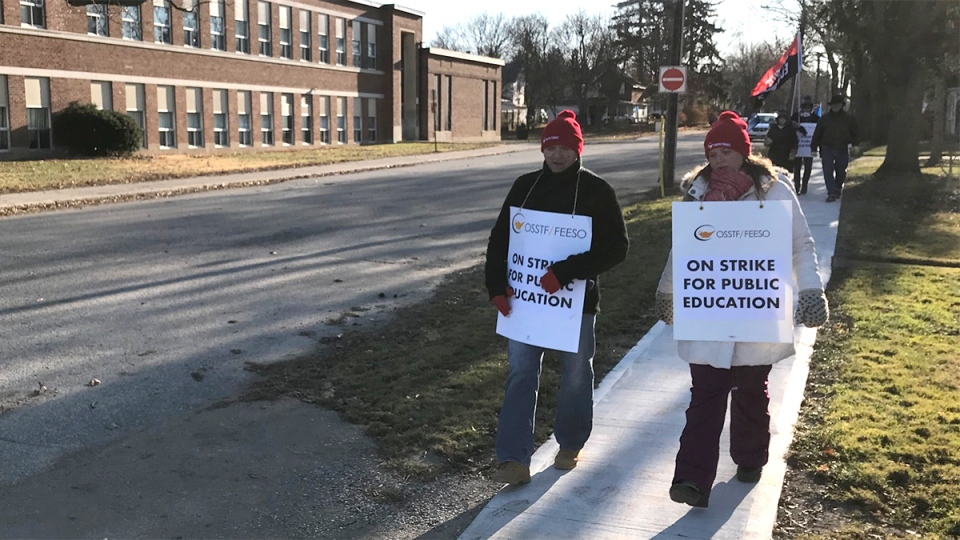 Teachers strike in Ridgetown