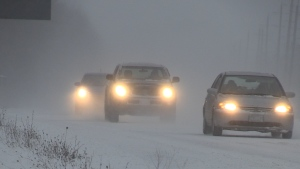 CTV News file image of drivers in a snow storm.